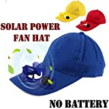 VOLTAC Solar Power Air Fan Hat Peak Cap Sunhat for Outdoor Camping/Hiking / Cycling (Multi Color) Pattern #120658