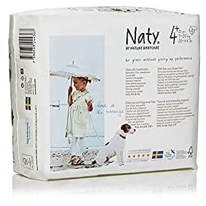 Naty by Nature Babycare - Couches Taille 4+ - Lot de 3 paquets (72 couches)