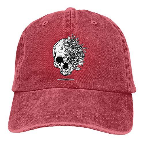 99f1129d257d0 Wfispiy Roses Skull Leaves Verstellbare Gewaschene Vintage Baseballmützen  Trucker Hat