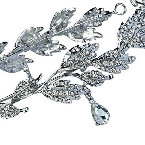 Babeyond Braut Stirnband mit Rhinestone Brautjungfer Haarband österreichisches Kristall Silber Hochzeit Accessoires für Damen - 4