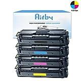 Airby® Kompatibel CLT-K504S CLT-C504S CLT-M504S CLT-Y504S CLT-504S Toner kartusche für Samsung Xpress CLP-415 CLX-4195 CLP-415N CLP-415NW CLX-4195FN CLX-4195FW CLP-470 CLP-475 Xpress SL-C1810W SL-C1860FW (4 Stück - Schwarz Cyan Gelb Magenta)