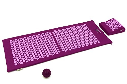 Kit d'acupression XL Fitem - Tapis d'Acupression + Coussin + Boule de Massage -...