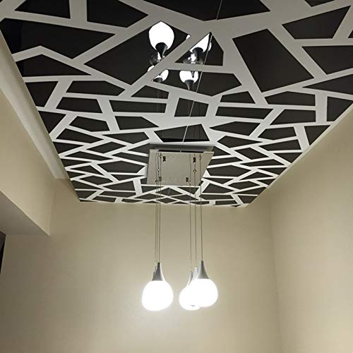 CQMYG GEOMETRISCHE MUSTER 3D SPIEGEL APPLIQUE DIY WOHNKULTUR ACRYL SPIEGEL WANDAUFKLEBER SCHWARZ L (Couchgarnitur Moderne Schwarz)