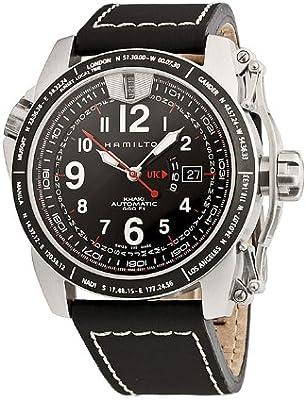 Hamilton H62565733 - Reloj analógico de caballero automático con correa de piel negra - sumergible a 200 metros