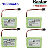 Kastar 4-PACK AAAX3 3.6V MSM 1000mAh Ni-MH Rechargeable Battery For Uniden Cordless Phone BT-446 BT446 BP-446 BP446 BT-1005 BT1005 TRU8885 TRU8885-2 TRU88852 TRU8888 TRU9460 TRU9465 TRU9480 TCX-800