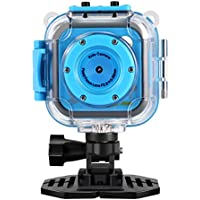 Kinder Kamera,GAKOV GACD WiFi 1280P 2MP Unterwasser Kinderkamera 20m Wasserdicht Sportkamera für Kinder