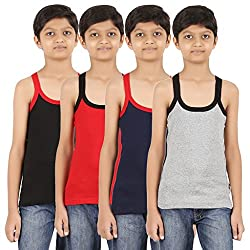 ZIPPY Boys Gym Vest Multi Color Combo(Pack of 4)