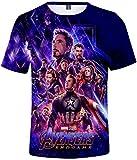FLYCHEN Uomo Maglietta 3D Stampato Avengers Endgame MCU Serie Film Eroismo a Manica Corta Movie Passione Appassionata Vendicatori Infinity War Ⅱ - Avengers Poster - XL