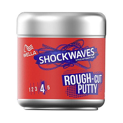 Wella Shockwaves Rough Cut Putty, 6er Pack(6 x 150 ml) - Reworkable Putty