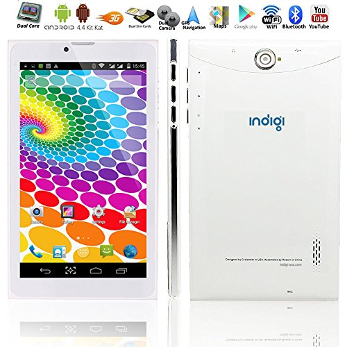 Indigi Unlocked! Smartphone 3G GSM + WCDMA Tablet PC Android 4.4 AT&T T-Mobile Straight Talk (Gsm-unlocked-android-tablet)
