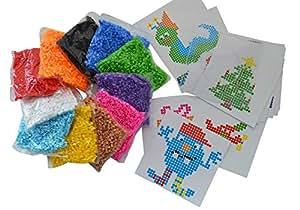 11 Farben 11.000 Teile Bügelperlen Set Verschiedene Steckplatte Vorlagen
