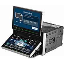 """TUVVA KSD7701 Universal 2-DIN Car Stereos with 6.95"""" & 7"""" Double Monitor, Support GPS/MobileLink/Bluetooth/USB/DVD/CD/MP3/MP4/AM/FM Radio/Rear Camera/Remote Control (8GB Map Card included)"""