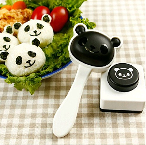 (kaufen hier Cute Panda Form Sushi Maker Backform Reis Ball, Form mit Nori Punch)