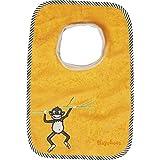 Playshoes 507436 - Babero, diseño de mono, 27 x 26 cm, color amarillo