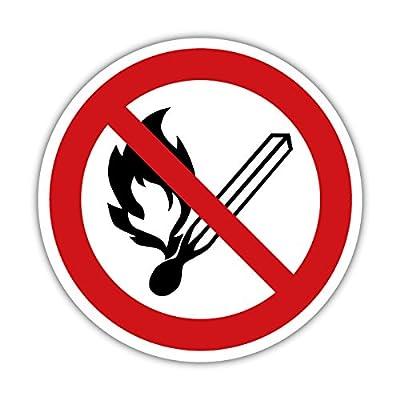 Kein offenes Feuer, Sicherheitsschild, Warnzeichen 20cm