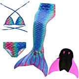 Das beste Mädchen Bikini Badeanzüge Schönere Meerjungfrauenschwanz zum Schwimmen mit Meerjungfrau Flosse Schwimmen Kostüm Schwanzflosse - EIN Mädchentraum