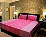 Elegance Pink 100 % Cotton Double Bedshe...
