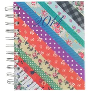 A6 patchwork day to page 2014 diary