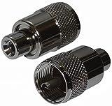 AERZETIX: 2X connecteur prise fiche UHF PL-259 pour câble RG58 twist-on
