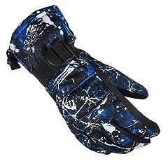 Idea Regalo - DOEUS Outdoor guanti da sci Ciclismo di snowboard d'inverno guanti pieni della barretta caldo guanto impermeabile sci da neve per bambini uomini (M)