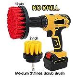 OxoxO 2inch + 4inch Medium Heavy Duty Scrubbing Reinigung Power Scrubber Reinigung Drill Brush Kit für Badezimmer Oberflächen Wanne, Dusche, Fliesen und Fugen