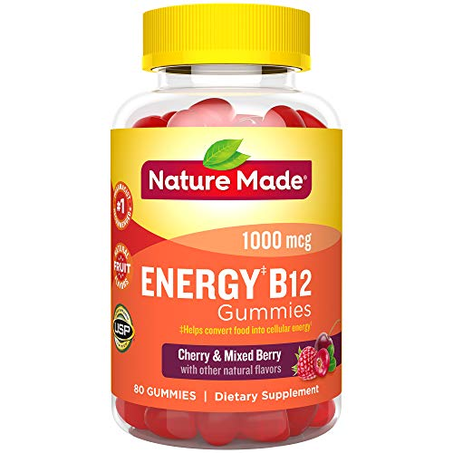 Nature Made Energy B-12 Adult Gummies Cherry & Wild Berries -- 80 Gummies by Nature Made