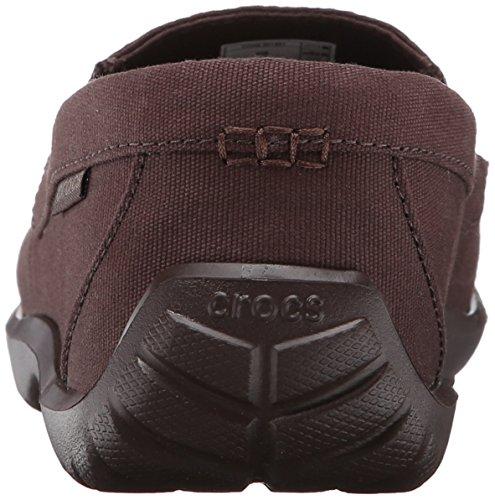 Crocs-Walu pour homme Toile Driver Chaussures à enfiler Mahogany/Mahogany