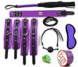Hisionlee Sex Bondage Set Werkzeuge 8 Stück Restraint System Slave