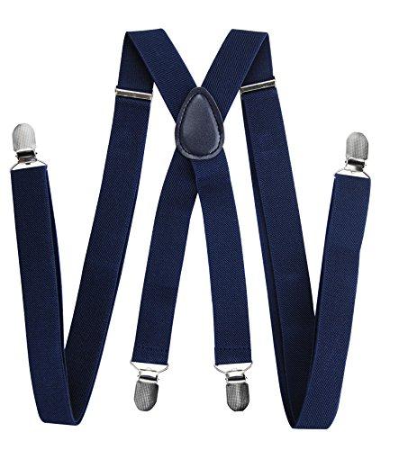 Tirantes hombre alta calidad Axy anchos 2,5 cm 4 clips