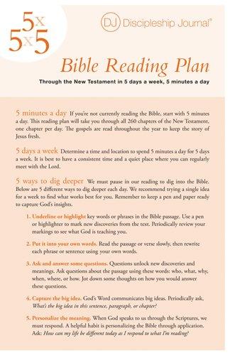 Discipleship Journal's 5 s 5 s 5 Bible Reading Plan (Discipleship Journal Studies)