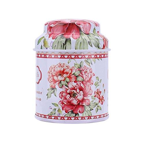 Kicode Bunte Tins Runde Retro-Süßigkeit-Kasten Tee-Dosen Container Tinplate Geschenkbox Für Snack Zucker Süßigkeit Kaffee