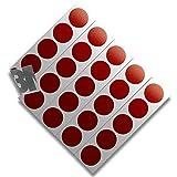 3M 610C Reflektierendes Klebeband Reflexfolie Reflektorfolie Geocaching Punkte Reflektoren Nachtcache Selbstklebend Rot D20mm