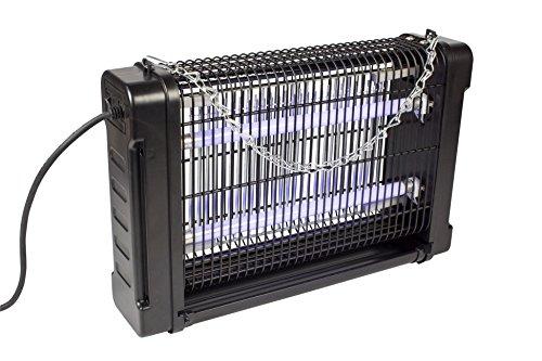 fliegen abwehr Eurosell 16W Premium Insekten Abwehr - Profi Insektenvernichter - Mosquito Stopp Stechmücken Mücken Fliegen Lichtfalle Licht Falle UV-A UVA mit Schalter + Auffangbehälter + Kette zum aufhängen