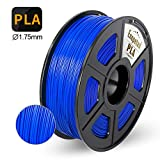 PLA 3D Printer Filament,Enotepad PLA Filament 1.75mm,Dimensional Accuracy 1.75±0.02 mm,Blue PLA 1KG Spool