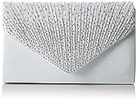 SWANKYSWANS Womens Abby Diamante Envelope Style Bag Clutch Silver