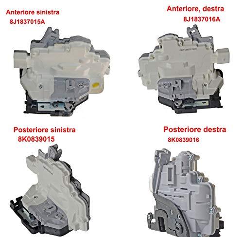 Serratura per porta anteriore e posteriore sinistra + destra 8J1837015A 8J1837016A 8K0839015 8K0839016