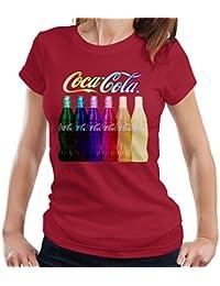 6ca18bb0a9a9e Coca Cola Rainbow Multi Bottles Women s T-Shirt