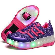 Automática Ruedas Ajustables LED Zapatillas con Luces Ruedas Color Deporte Zapatos de Skate