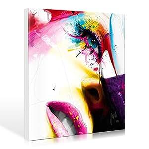 WTD sensual colors par patrice murciano 90 x 90 cm-jusqu'aux bords affiche poster pop art, sensuel, des lèvres, de la bouche et du visage féminin, lasziv, punk, leuchtfar.., haute qualité de fabrication-galerie d'art boutique