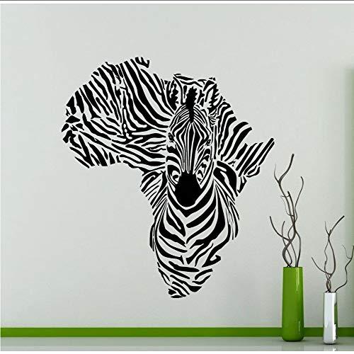 Afrika Karte Silhouette Kreative Spezielle Zebra Wandbild Kühle Tier Wandaufkleber Vinyl Removable Home Dekorative Tapete56 * 60 cm