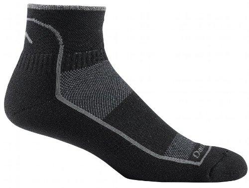 Darn Tough Vermont Herren 1/4Coolmax Kissen Ultraleichte Athletic Socken, unisex Herren, schwarz (1/4 Sock Coolmax)