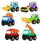 • Questo set di veicoli di ingegneria è composto da 6 differenti pezzi. • Affascina sempre il fatto di vederle correre da sole una volta tirate indietro. • Sono ben realizzate, con plastiche dettagliate e senza bordi taglienti o con sbavature...