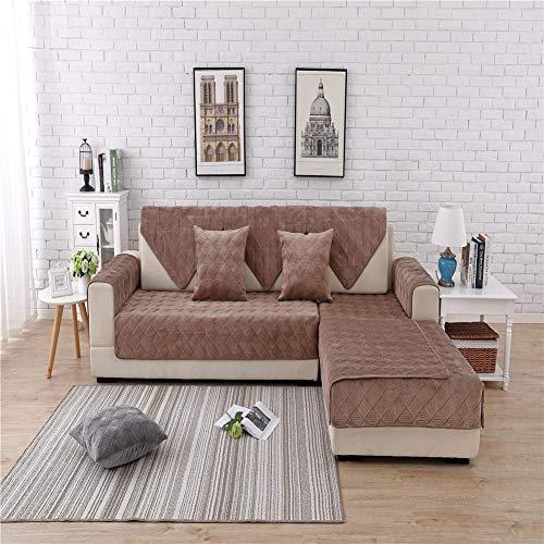 h Sofabezüge,Gesteppt Möbelschoner 1 stück Set Anti-Rutsch Sofa Handtuch Haustiere Hund Kinder Couch-Abdeckungen 1/2 / 3 SitzDekoration ()