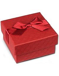 SD regalo del paquete rojo 65x 65x 35mm joyas caja con lazo ve3163r
