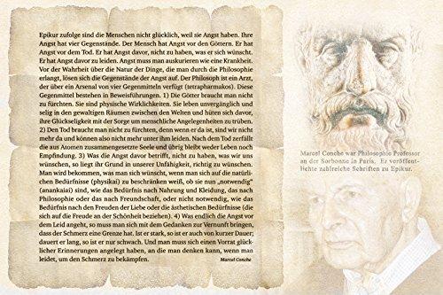 Kunst Bild Philosoph Epikur, Erläuterungen von Professor Marcel Conche Tapete Mousepad (Mousepad rutschfest, 27 x 18 cm)