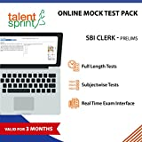 #9: Online Mock Tests- SBI CLERK Prelims (Valid for 3 months) - 10 Full length tests and 10 Subjectwise tests in Real Time Exam Interface