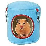 Spaufu Warm Weich Haustier Hängematte aufhängen Bett-Hängematte Spielzeug-Form, Spielzeug für Hamster Ratte Maus, Eichhörnchen, kleine Tiere Käfig mit Zubehör