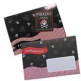 Piraten Pirates only 8 Geburtstagseinladungskarten Geburtstag Briefkuvert Einladungen