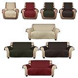 HDM Soft-Touch einzeln Sitzer 1-Sitzer 177x56 cm Sofaüberwurf Sesselschoner Sofaschoner Sesselschutz Kindersofa Decke aus 100% PP Baumwolle in Beige