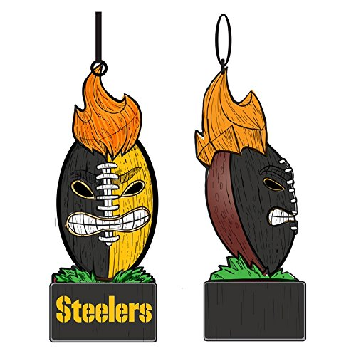 FL Beleuchtet Team Tiki Ball Ornament, Pittsburgh Steelers ()
